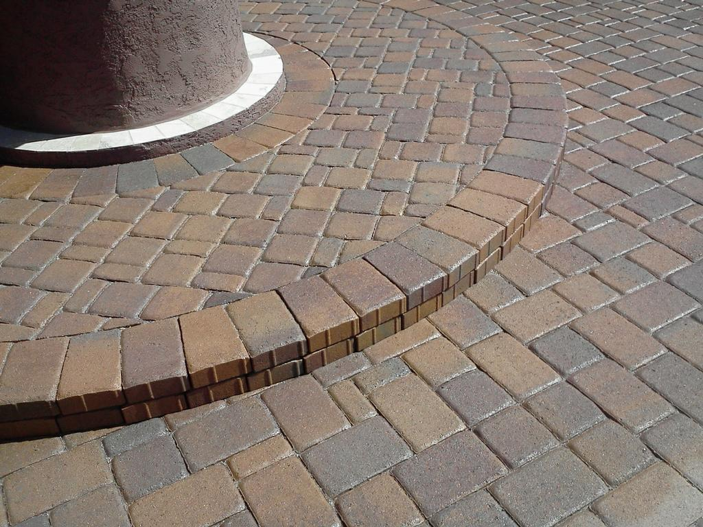 Paver Steps Sealed With Wet Look Sealant Destin